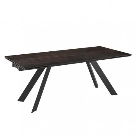 Table extensible ATRIA finition céramique acier