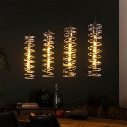 Suspension 4 lampes SPIRA