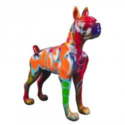 Objet déco statue chien REX H.150 cm