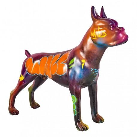 Objet déco statue chien RADJA H.47 cm