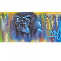 Tableau moderne gorille ABOU 70x140 cm