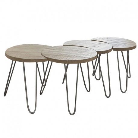 Lot de 4 tables basses « CIRCLE »