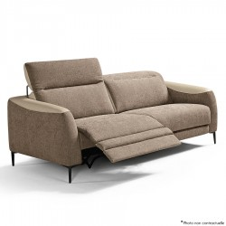 Canapé 2 places 2 relax électriques CARY 206 cm