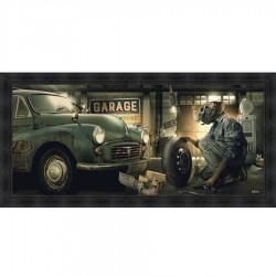 Tableau moderne Sylvain BINET Garage Vintage 76x153 cm