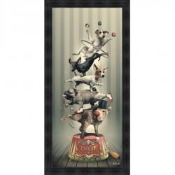 Tableau moderne Sylvain BINET Cirque canin 76x153 cm