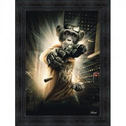 Tableau moderne Sylvain BINET Bad Monkey 63x83 cm