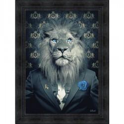 Tableau moderne Sylvain BINET Lion Fashion 63x83 cm