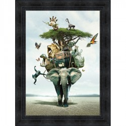 Tableau moderne Sylvain BINET Savane 63x83 cm
