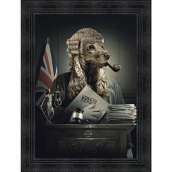 Tableau moderne Sylvain BINET Judge 63x83 cm