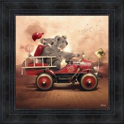 Tableau moderne Sylvain BINET Koala 53x53 cm