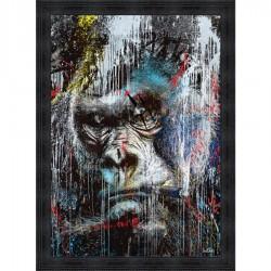Tableau moderne Sylvain BINET Gorille pop 93x133 cm
