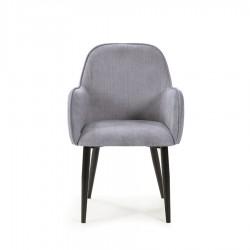 Lot de 2 fauteuils NAVARRE gris
