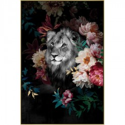 Tableau moderne LION 82x122 cm