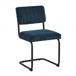 Lot de 2 chaises ENVY bleu pétrole