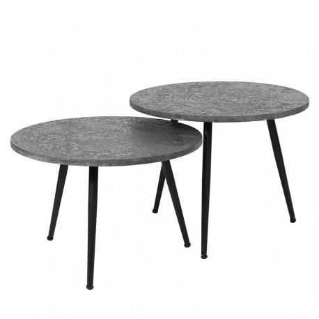 Lot de 2 tables basses MERA