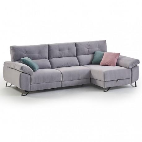 Canapé d'angle WAYNE 2 relax électriques (282 cm)