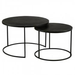 Lot de 2 tables basses MAYA noires