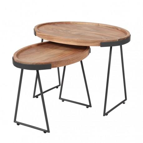 Lot de 2 tables d'appoint JUNE