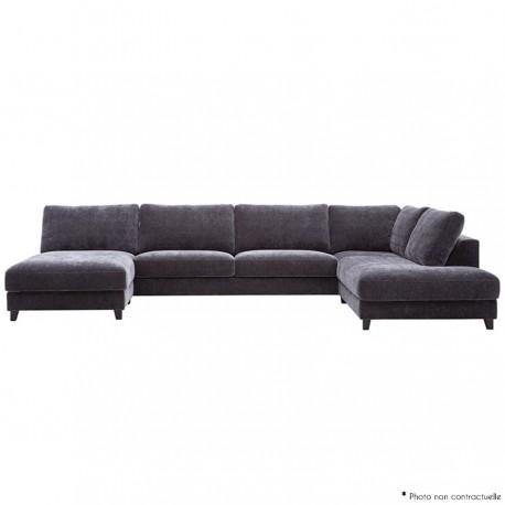 Canapé d'angle avec chaise longue XL SALINA 374 cm