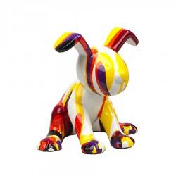 Objet déco statue chien HENRY H.18 cm
