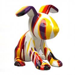 Objet déco statue chien HENRY H.27 cm