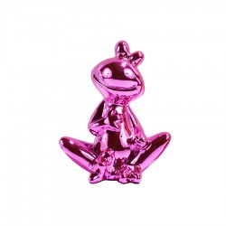 Objet déco statue grenouille JEDY H.20 cm rose