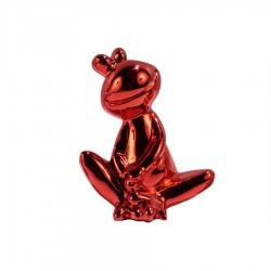 Objet déco statue grenouille JEDY H.20 cm rouge