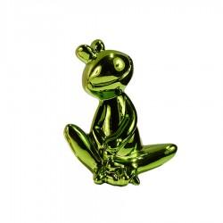 Objet déco statue grenouille JEDY H.20 cm vert