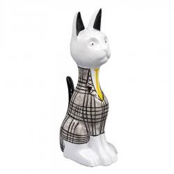 Objet déco statue chat LUCIUS H.20 cm