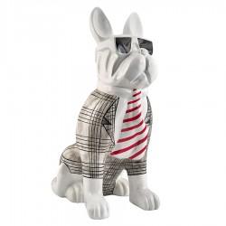 Objet déco statue chien DARYL H.100 cm