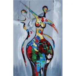 Tableau moderne femme danseuse multicolore