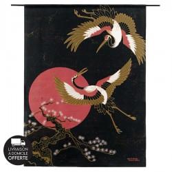 Tenture murale design en coton 145x190cm Japanese Beauty