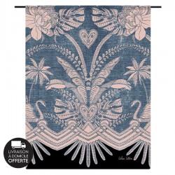 Tenture murale design en coton 145x190cm Blue Denim