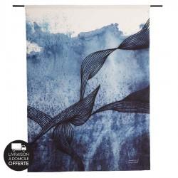 Tenture murale design en coton 145x190cm Laws of Motion
