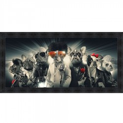 Tableau moderne Sylvain BINET Boubou City 76x153 cm