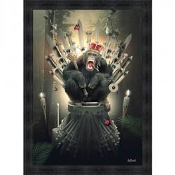 Tableau moderne Sylvain BINET King of Thrones 93x133 cm
