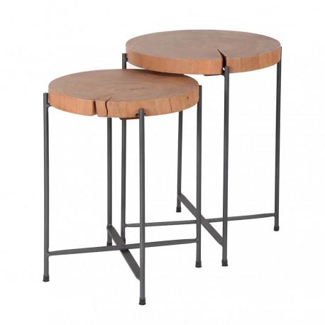 Lot de 2 tables d'appoint MELILO