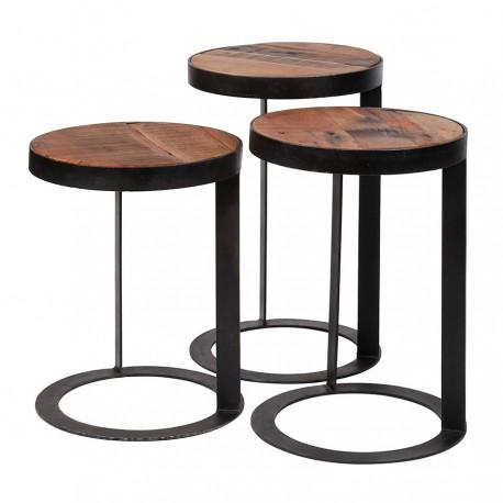 Lot de 3 tables d'appoint MEDEE