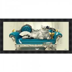 Tableau moderne Sylvain BINET Chats Sofa 76x153 cm