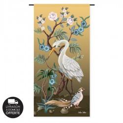 Tenture murale design en coton 90x190cm Birds