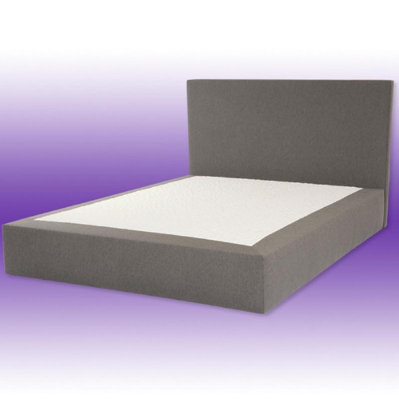 prestige lit sommier et t te de lit rev tement tissu. Black Bedroom Furniture Sets. Home Design Ideas