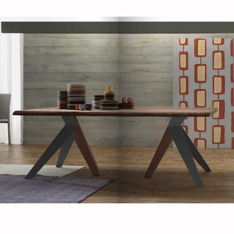 Table avec plateau en bois florence d for Plateau table bois