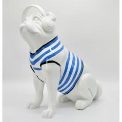 """Sculpture chien """"MAURICE"""" H.49cm"""