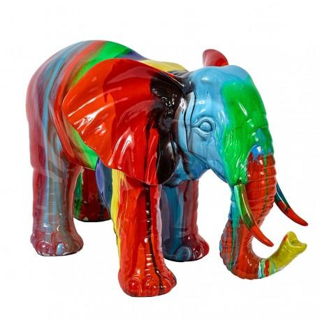 """Sculpture éléphant """"ELMER"""" H.36cm"""