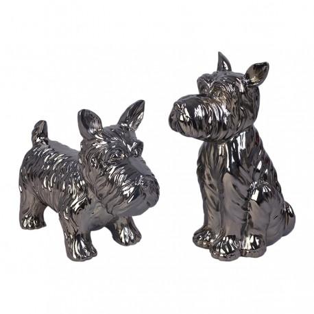 """Set de 2 sculptures chien """"CHIPIE"""""""
