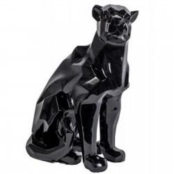 Sculpture moderne panthère noire longueur 40 cm