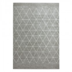 "Tapis ""ANGELES"" gris et blanc"