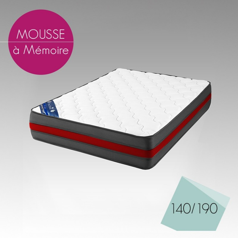 matelas en mousse revata 140x190 cm d f i. Black Bedroom Furniture Sets. Home Design Ideas