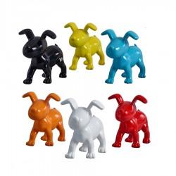 "Lot de 6 chiens ""OSCAR"" H.15 cm"
