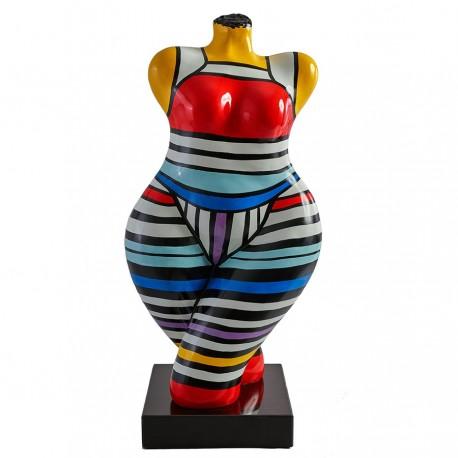 "Sculpture buste ""CHARLOTTE"" H.64 cm"